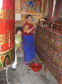 Ludovica e il giovanissimo monaco tibetano