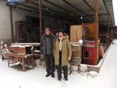 Simona e Florio dal rigattiere sotto la neve...
