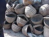 Secchi in legno cinesi da pozzo