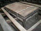 Tavolino cinese con piano in bambù