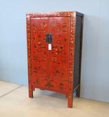 Armadio Cina In Lacca Rossa Decorata (Shanxi)