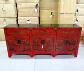 Credenza Cinese (Shanxi) In Lacca Decorata