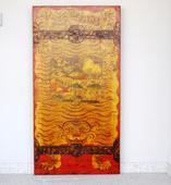 Porta Tibetana Decorata