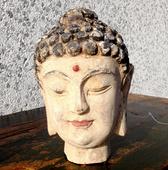 Testa Di Buddha In Legno