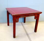 Tavolinetto Cinese In Lacca Rossa