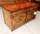 Tavolino Tibet Da Preghiera Con Decoro E Antine