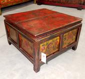 Tavolino Tibetano Decorato Quadro Con Antine