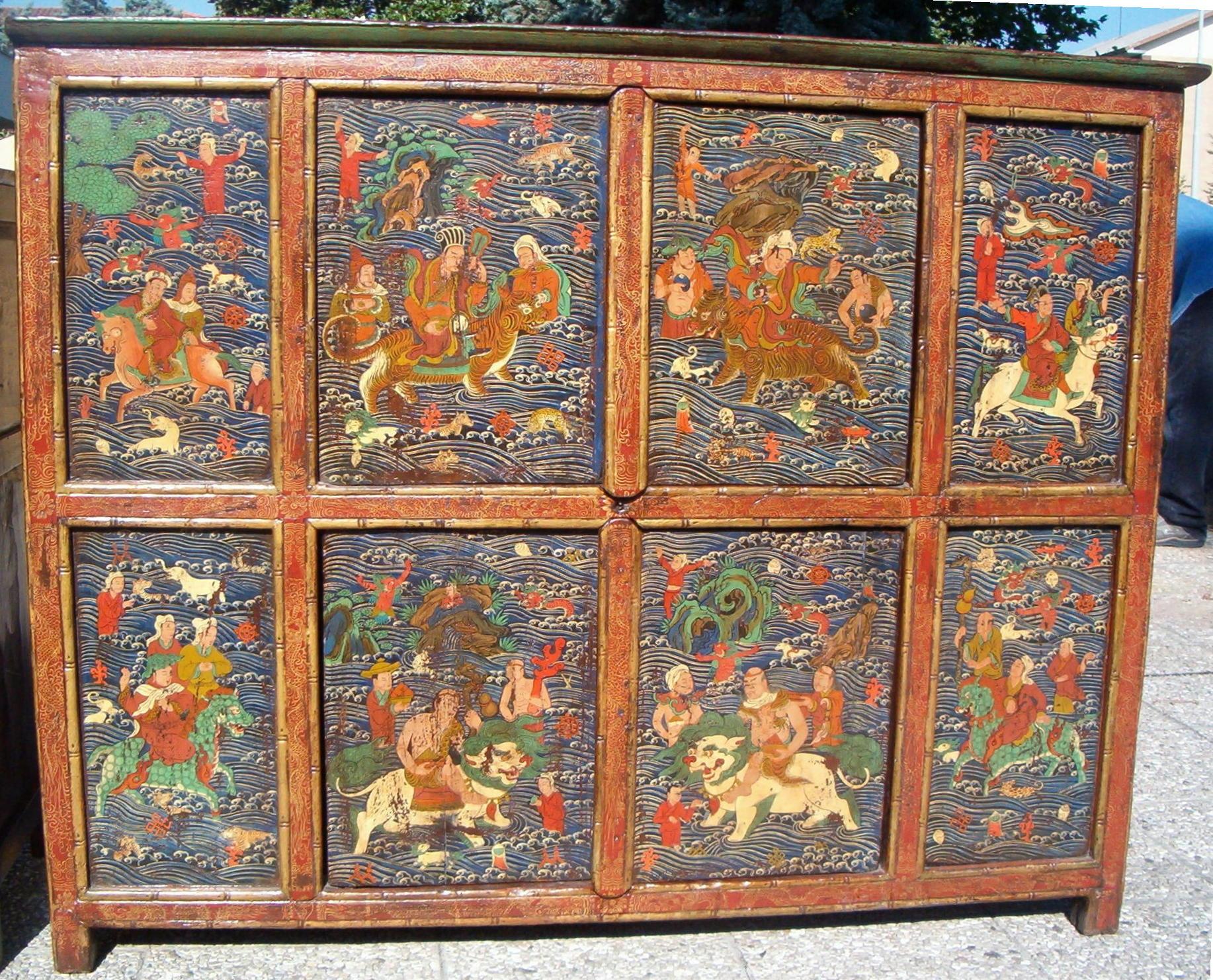 Latitudini mobili le tecniche decorative dei mobili tibetani - Mobili tibetani antichi ...