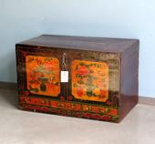 Baule Cinese Decorato Con Vasi E Fiori