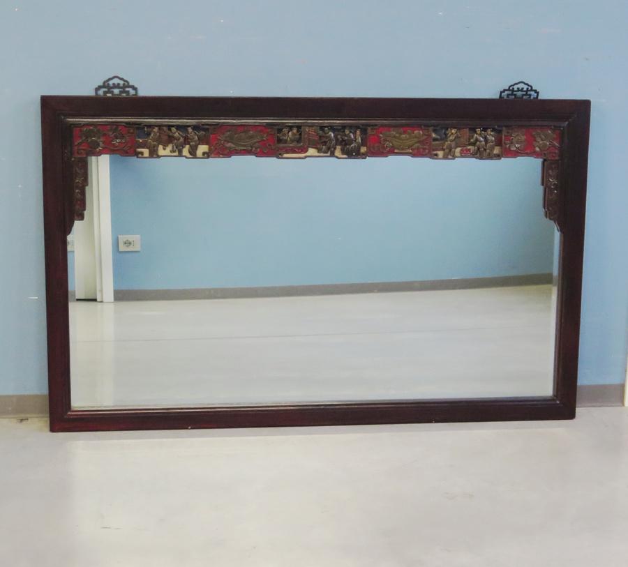 Grande cornice antica con specchio oggetti complementi - Cornice dei mobili ...