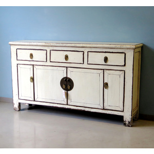 CREDENZE, MADIE - BUFFET CINESE LACCATO BIANCO - CM-08556