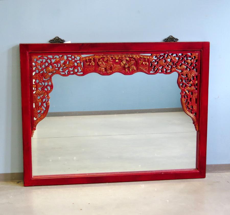 Cornice antica intagliata con specchio oggetti - Cornice dei mobili ...