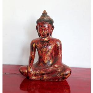 OGGETTI, COMPLEMENTI - STATUETTA LIGNEA BUDDHA POSIZIONE LOTO - OC-09768