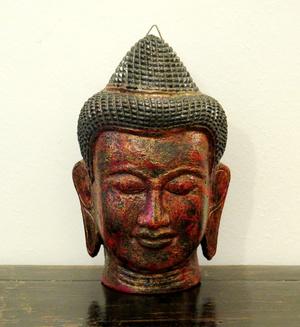 OGGETTI, COMPLEMENTI - MASCHERA DI BUDDHA DA APPENDERE - OC-09806